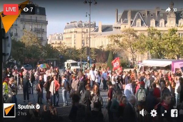 تظاهرات اعتراض آمیز گسترده علیه سیاست های دولت فرانسه