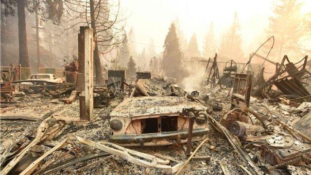 آتش سوزی کالیفرنیا، زیان بارترین حادثه طبیعیِ دنیا در 2018