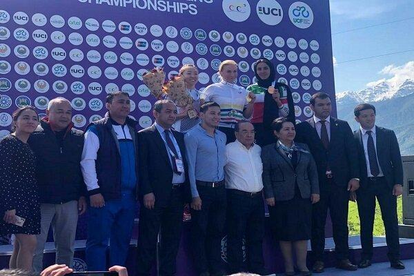 مدال تاریخی بانوی رکابزن ایران در قهرمانی آسیا، یزدانی برنز گرفت