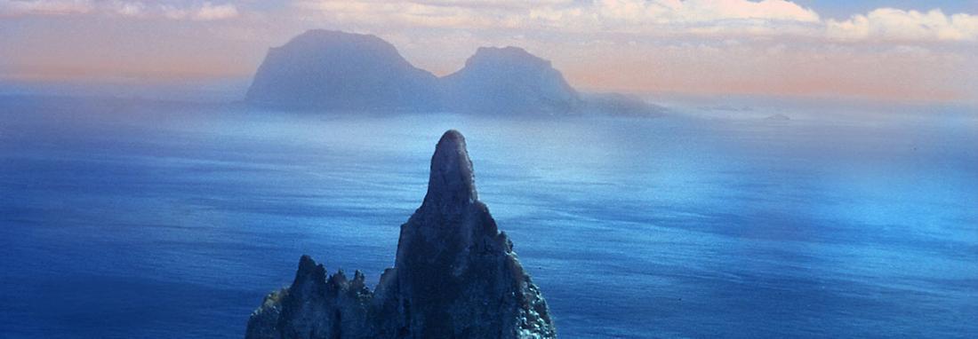 تصویر مرتفع ترین صخره دریایی دنیا ، هرمی طبیعی از رشته کوه لورد هاوو