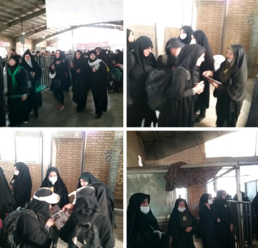 فعالیت شبانه روزی گشت های نسوان در شهر و پایانه مرزی مهران