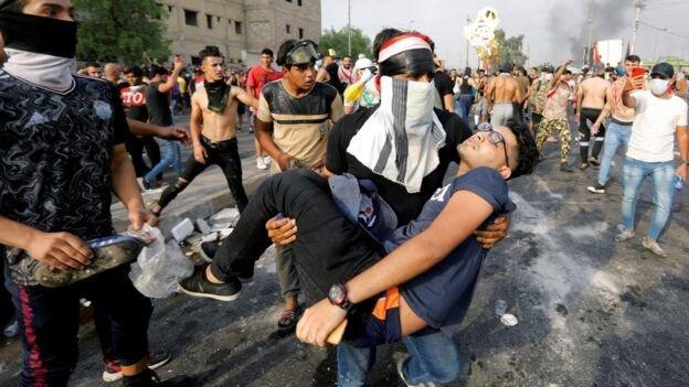 نقض حقوق بشر در اعتراضات عراق