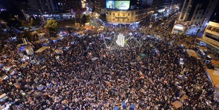 آخرین خبرها از تظاهرات لبنان، تجمع مترضان در برابر منازل سیاستمداران