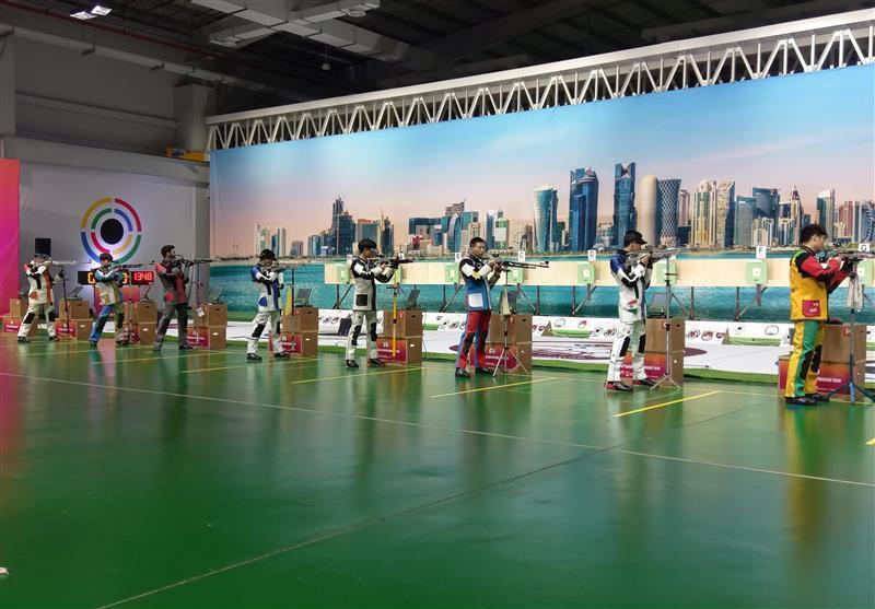 تیراندازی قهرمانی آسیا، خاتمه کار ملی پوشان جوان کشورمان در رشته تفنگ بادی