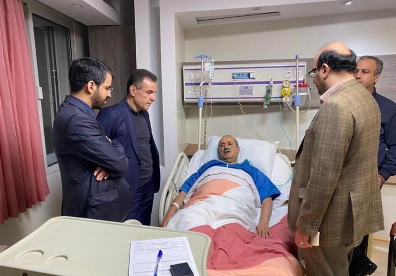 عیادت علی نژاد و انصاری فرد از تاج