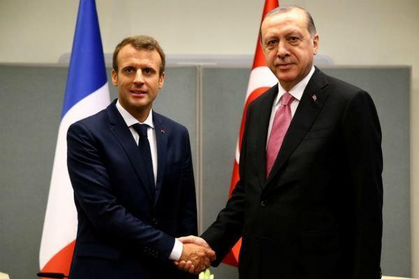 اردوغان و ماکرون رایزنی کردند