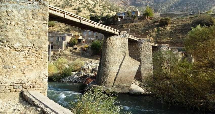 طولانی ترین پل چوبی کردستان مرمت و بازسازی شد