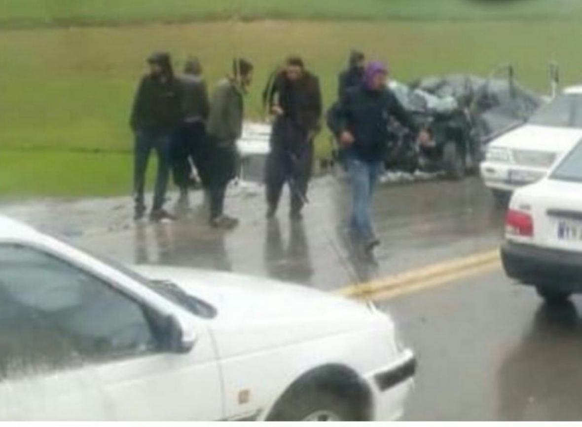 خبرنگاران حادثه رانندگی جاده دیواندره به سقز یک کشته برجا گذاشت