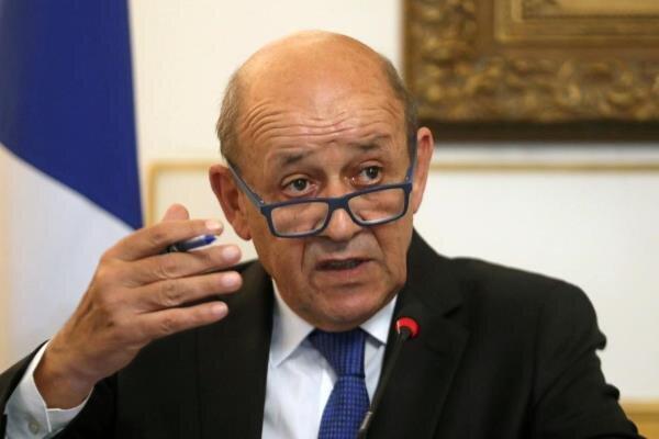 وزیر خارجه فرانسه با رئیس جمهور لبنان ملاقات کرد