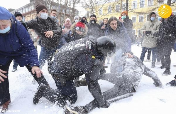 (تصاویر) بازداشت بیش از هزار طرفدار ناوالنی