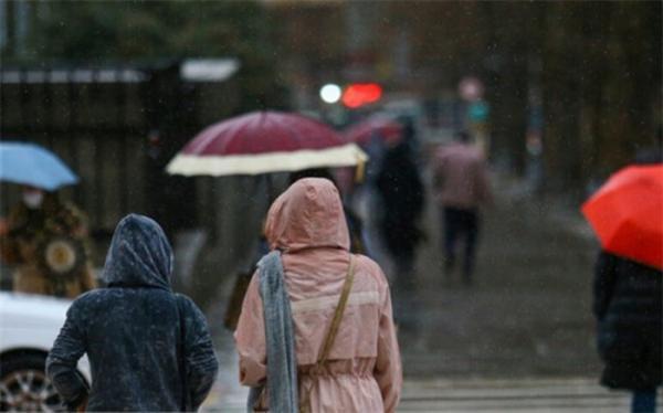 بارش باران در 10 استان کشور