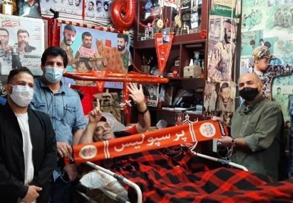 عیادت قهرمانان نامدار کشتی و کاراته از جانبازان قطع نخاعی