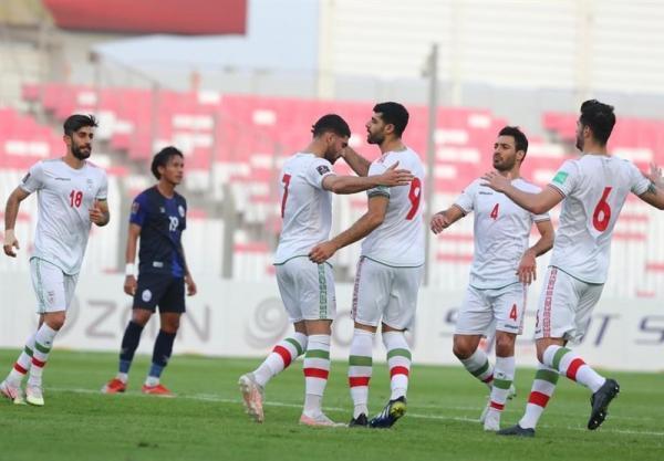 انتخابی جام جهانی 2022، جشنواره گل ایران مقابل کامبوج با هت تریک پنالتی و تیر